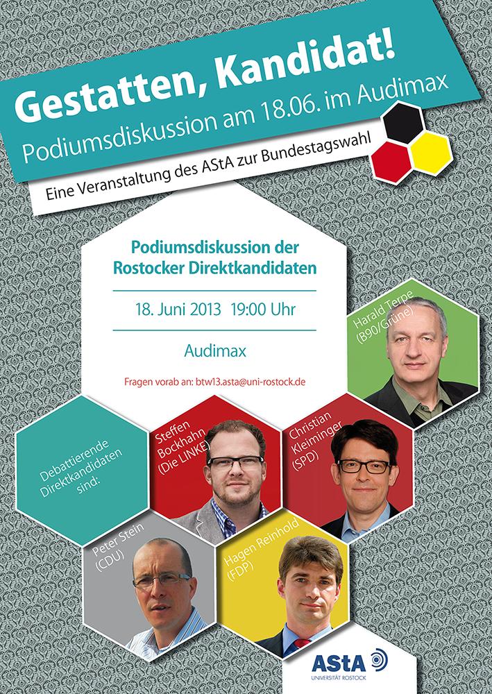 Plakat zur Podiumsdiskussion #BTW13