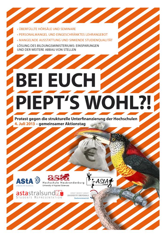Flyer zum landesweiten Aufruf der Studierendenschaften