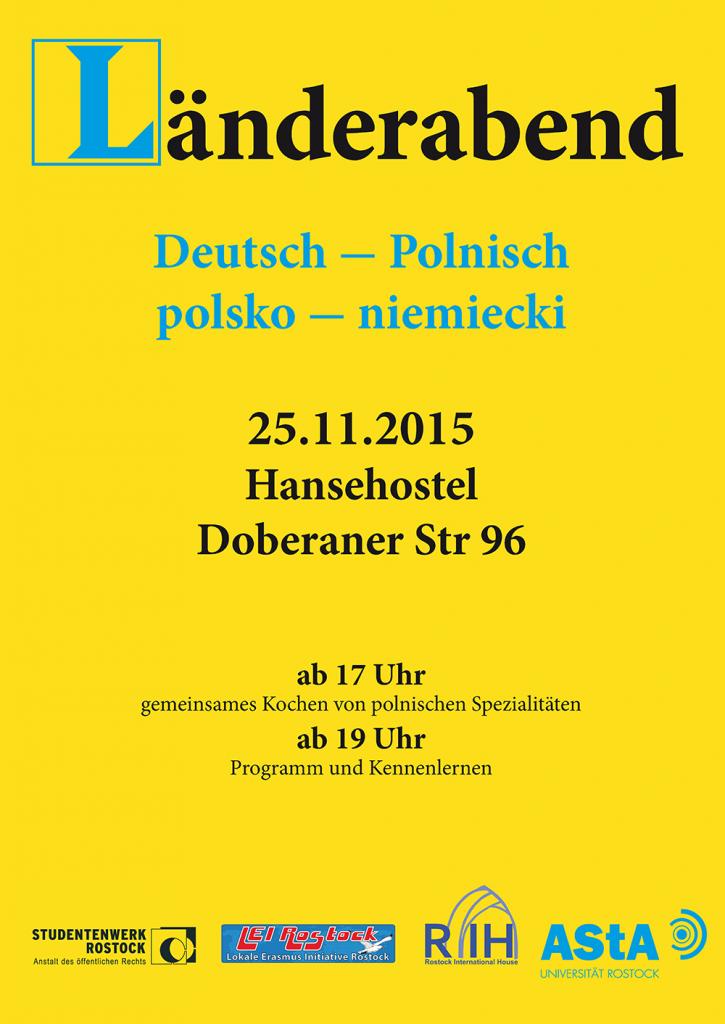 Plakat polnischer Länderabend